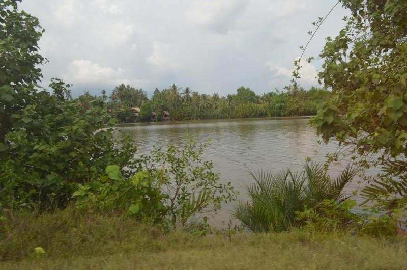 land near lake for sale in Kampot